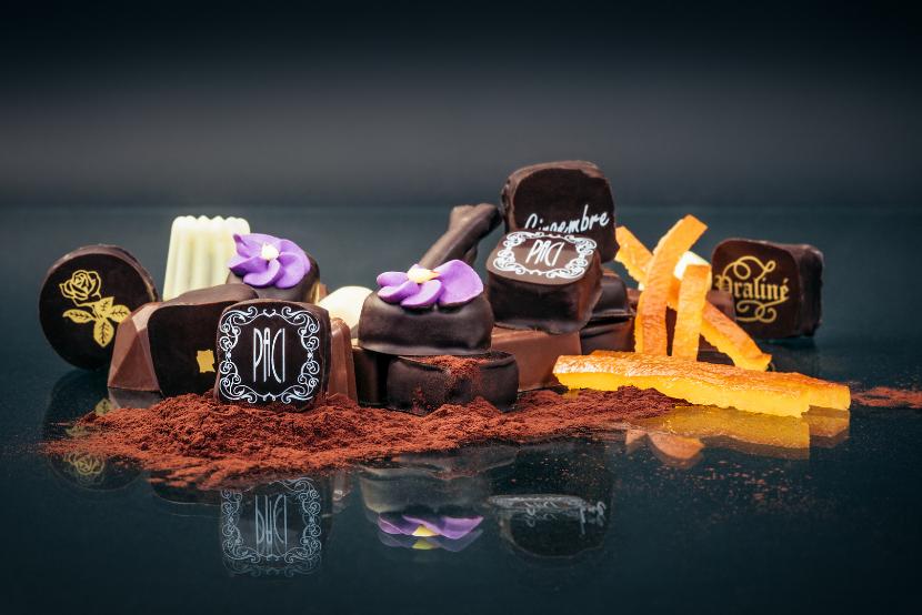 artisan chocolatier nice cannes, raviolis specialité nice chocolat, création jp paci